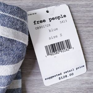Free People Dresses - Free People Life Like This Blue Strapless Dress
